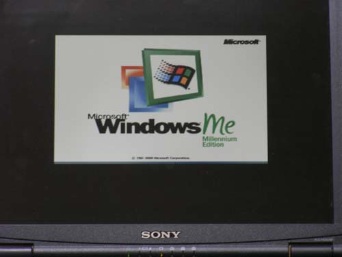 Windows Me on VAIO PCG-FX33G/BP